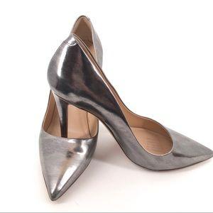 Diane Von Furstenberg Bethany Silver Pump Heel